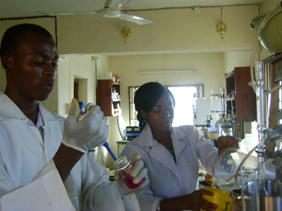 picture of a biomedical based research lab located in nigeria